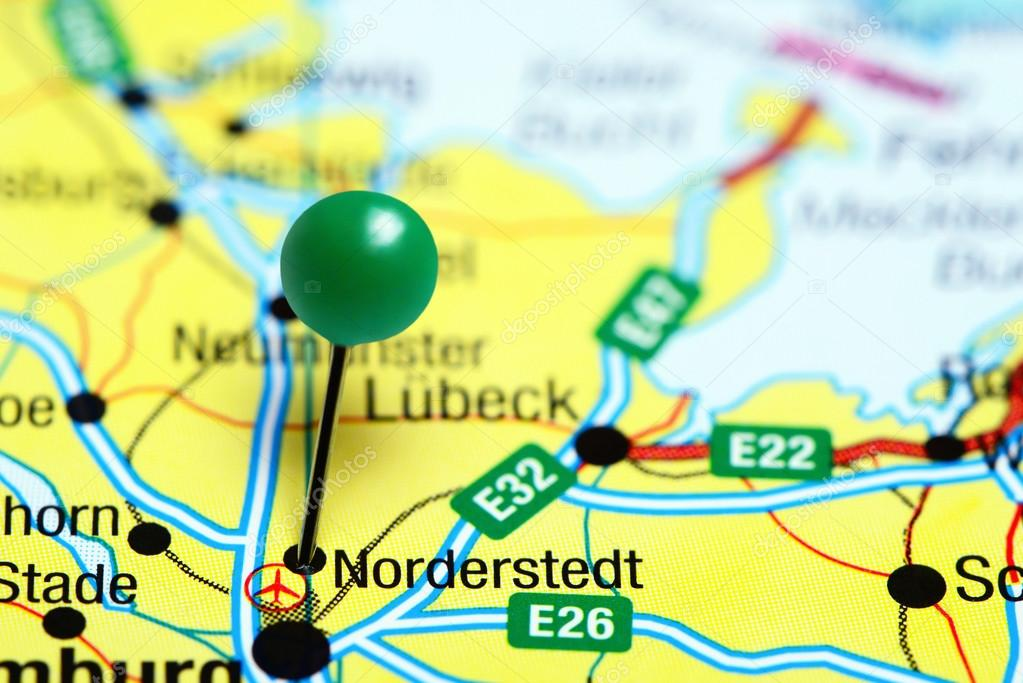 Norderstedt Pinned On A Map Of Germany Stock Photo C Dk Photos