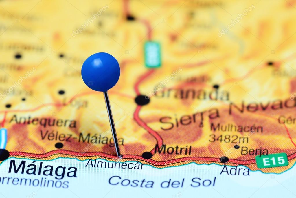 Almunecar Spain Map.Almunecar Pinned On A Map Of Spain Stock Photo C Dk Photos 111991954