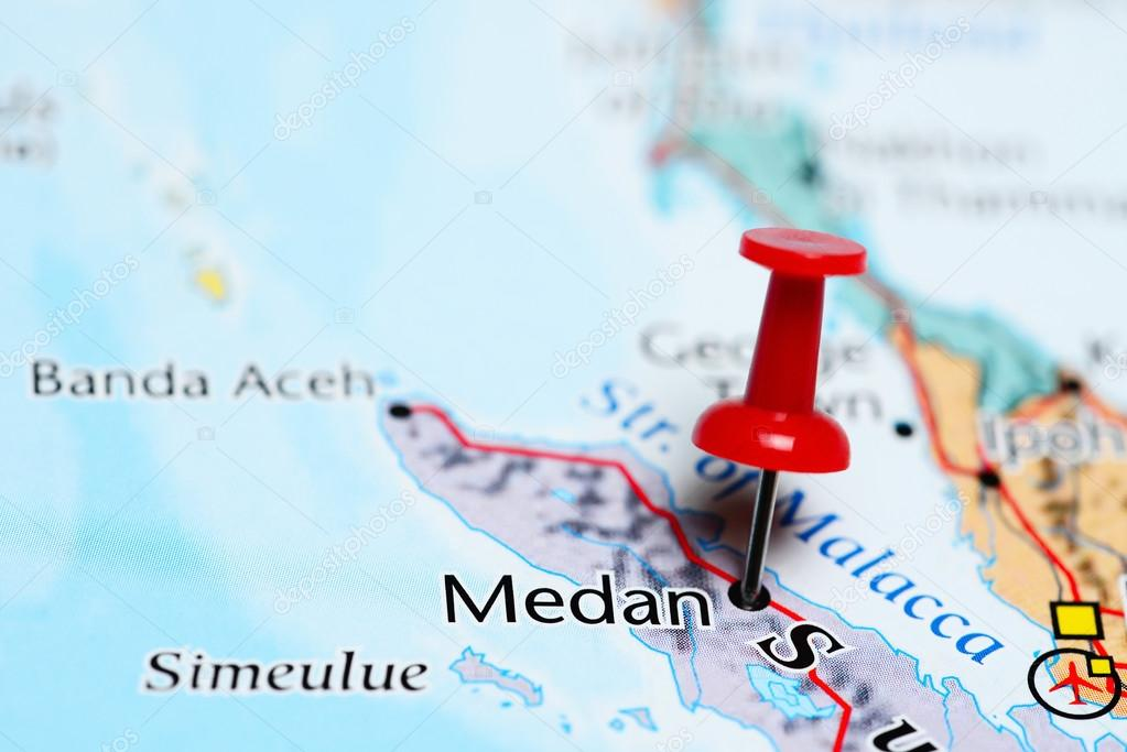Medan pinned on a map of indonesia stock photo dkphotos 112022838 medan pinned on a map of indonesia stock photo publicscrutiny Image collections