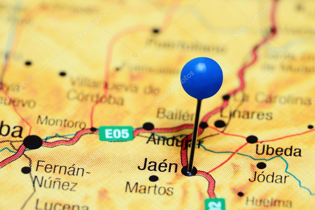 Map Of Spain Jaen.Jaen Pinned On A Map Of Spain Stock Photo C Dk Photos 112087824