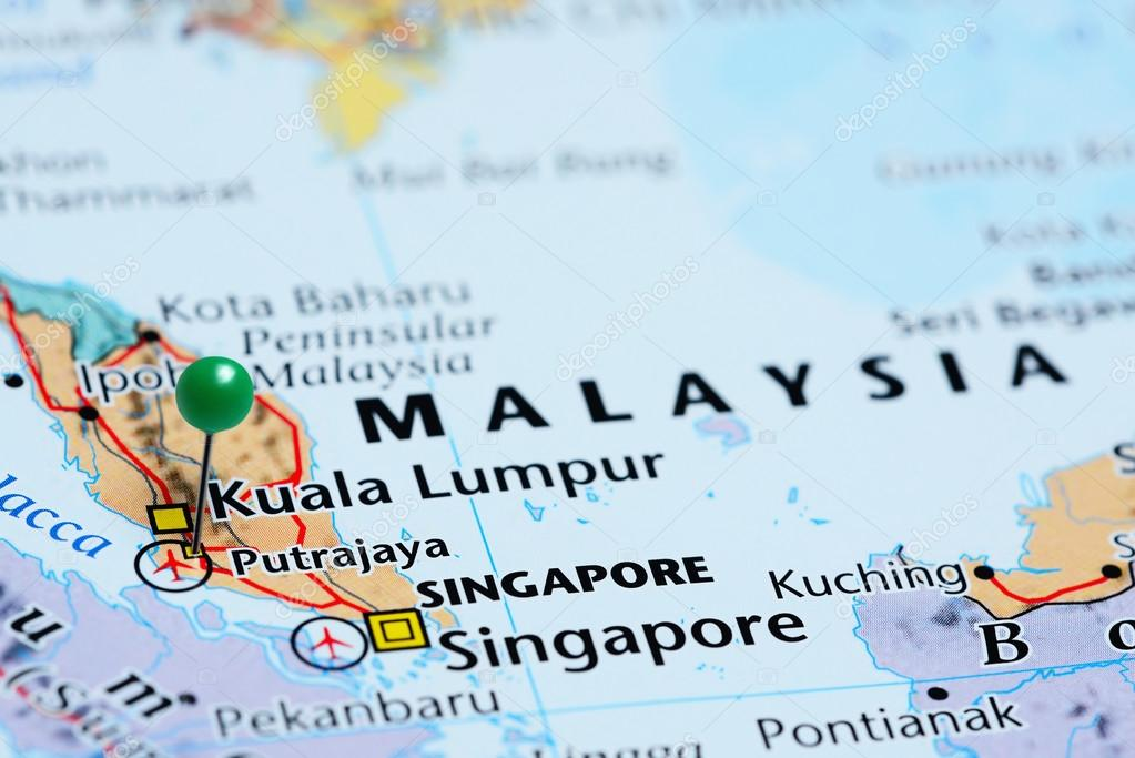 Putrajaya pinned on a map of Malaysia — Stock Photo ... on myanmar on a map, samoan islands on a map, guangxi on a map, nepal on a map, singapore on a map, the sudan on a map, santa domingo on a map, southern india on a map, waziristan on a map, east timor on a map, heard island on a map, syria on a map, st john island on a map, world map, siam on a map, bangladesh on a map, sri lanka on a map, the seychelles on a map, kabul river on a map, dr congo on a map,