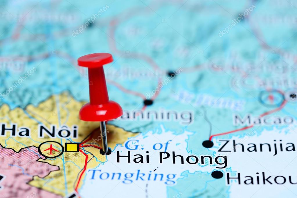 Haiphong Vietnam Map.Hai Phong Pinned On A Map Of Vietnam Stock Photo C Dk Photos