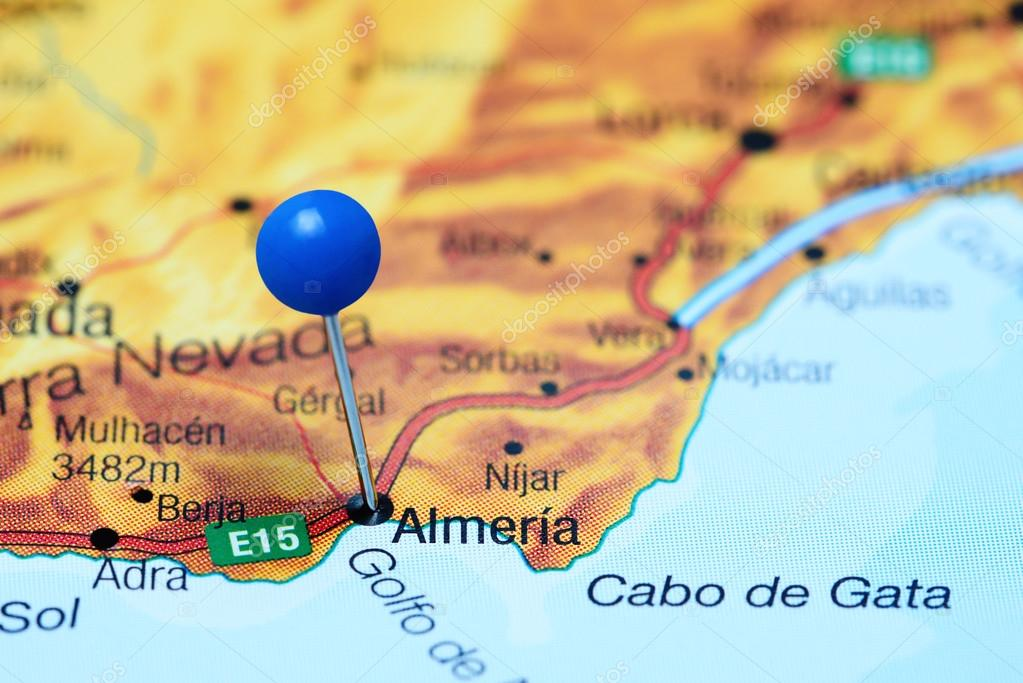 Almeria Pinned On A Map Of Spain Stock Photo C Dk Photos 112805532