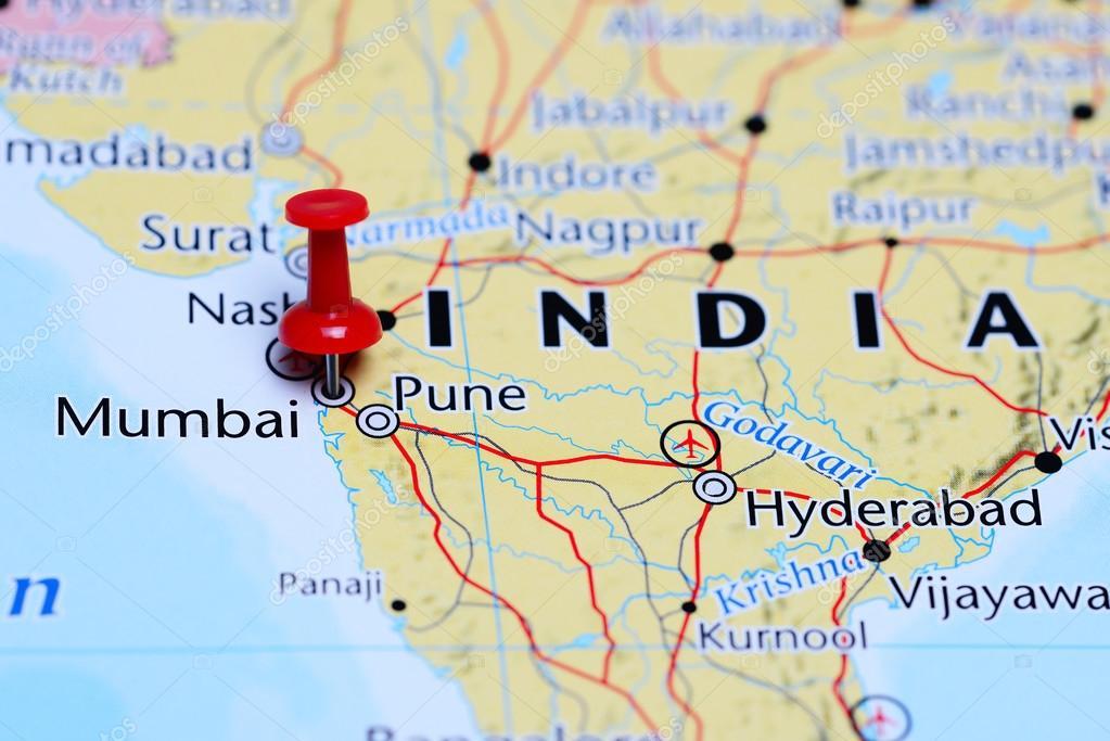 Mumbai en un mapa de la india foto de stock dkphotos 113189740 mumbai en un mapa de la india foto de stock gumiabroncs Gallery