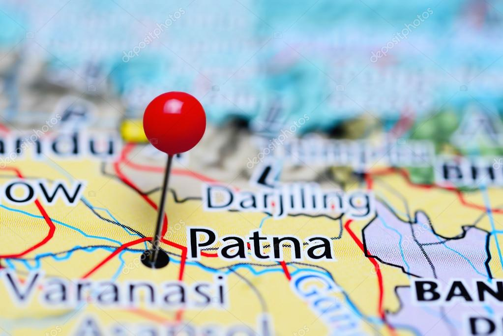 Patna In India Map.Patna Pinned On A Map Of India Stock Photo C Dk Photos 113189954