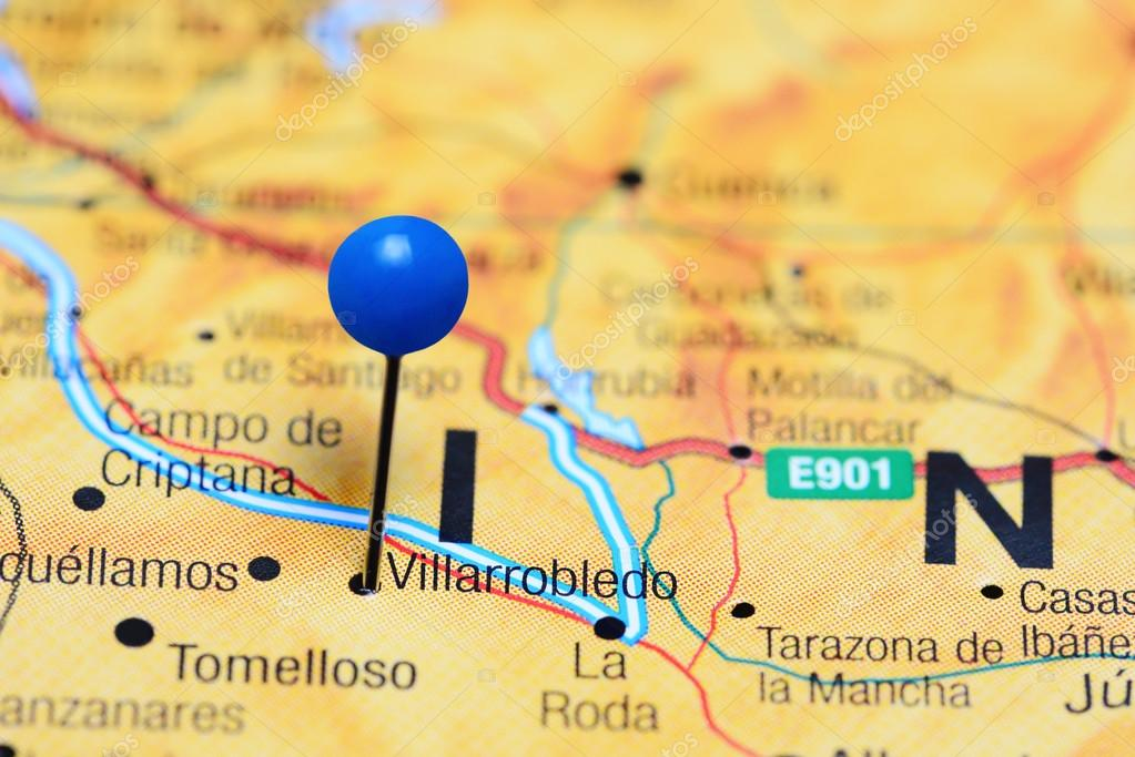 Villarrobledo Pinned On A Map Of Spain Stock Photo C Dk Photos