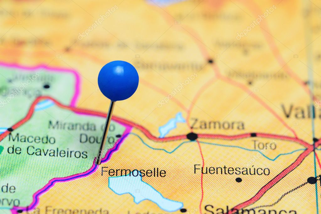 Fermoselle Pinned On A Map Of Spain Stock Photo C Dk Photos