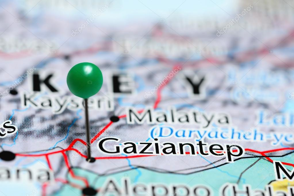 Gaziantep pinned on a map of Turkey Stock Photo dkphotos 113721458