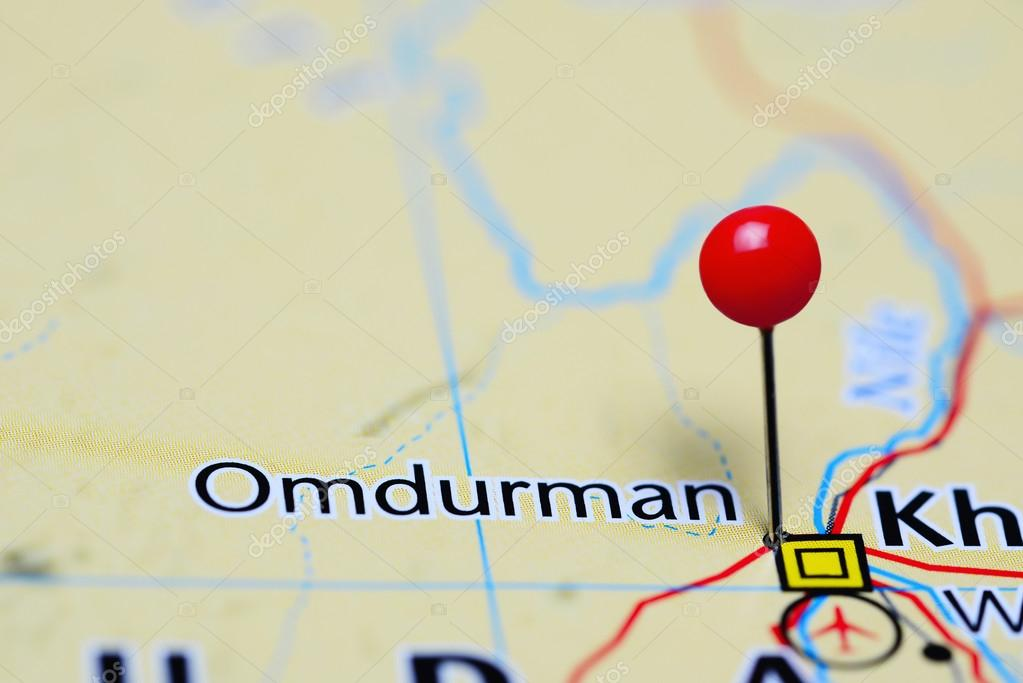 Omdurman pinned on a map of Sudan Stock Photo dkphotos 113887346