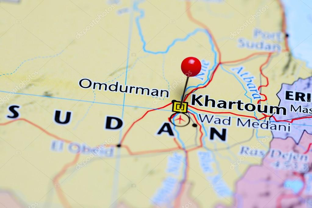 Khartoum pinned on a map of Sudan Stock Photo dkphotos 113887350