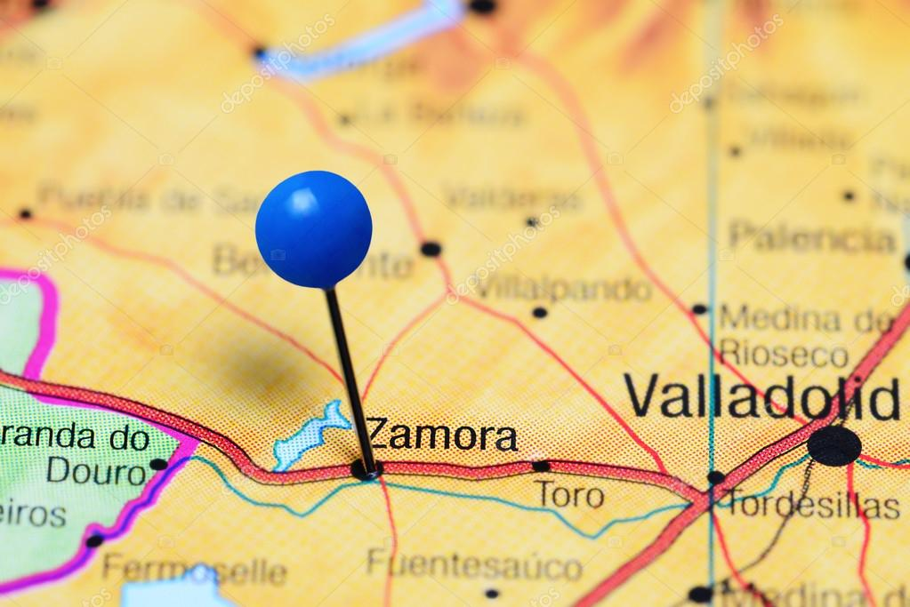 Map Of Spain Zamora.Zamora Pinned On A Map Of Spain Stock Photo C Dk Photos 114005928