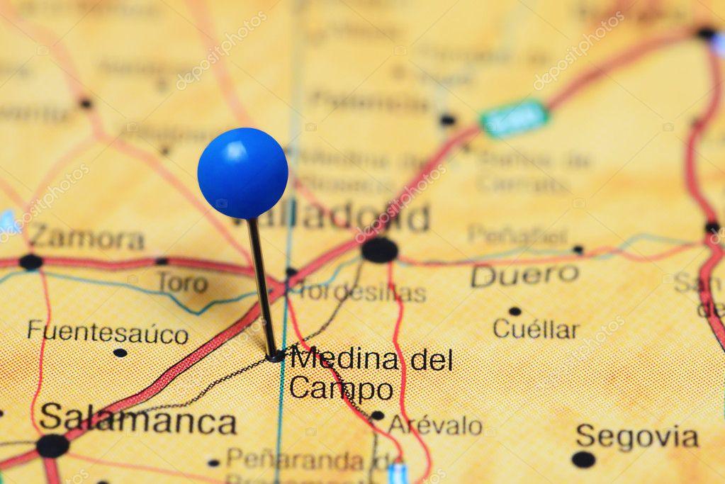 Medina Del Campo Mapa.Medina Del Campo Pinned On A Map Of Spain Stock Photo