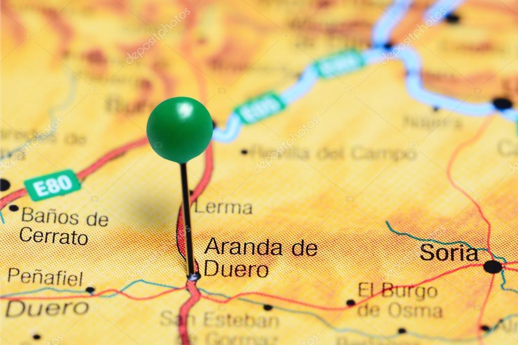 Aranda Del Duero Mapa.Cubrio A Aranda De Duero En El Mapa De Espana Fotos De