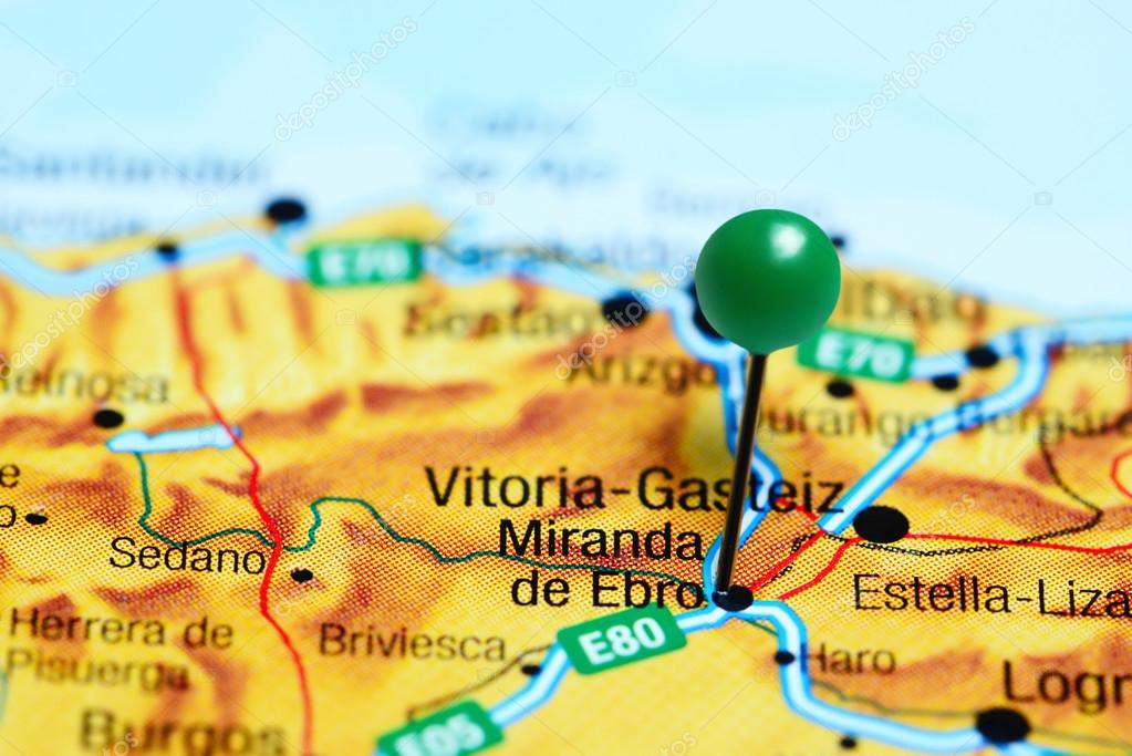 Mapa Miranda De Ebro.Miranda De Ebro En Un Mapa De Espana Fotos De Stock