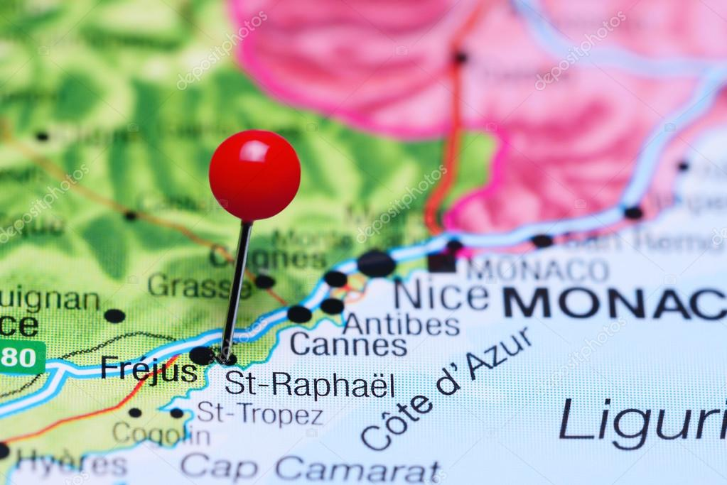St Raphael France Map.St Raphael Pinned On A Map Of France Stock Photo C Dk Photos