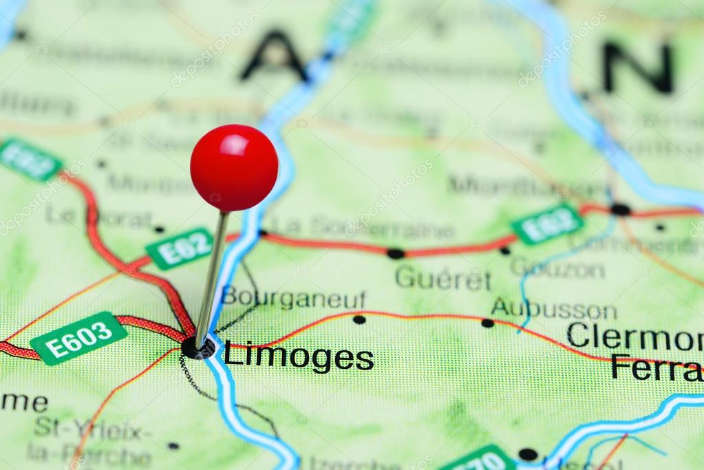 Limoges France Map.Limoges Pinned On A Map Of France Stock Photo C Dk Photos 116895446
