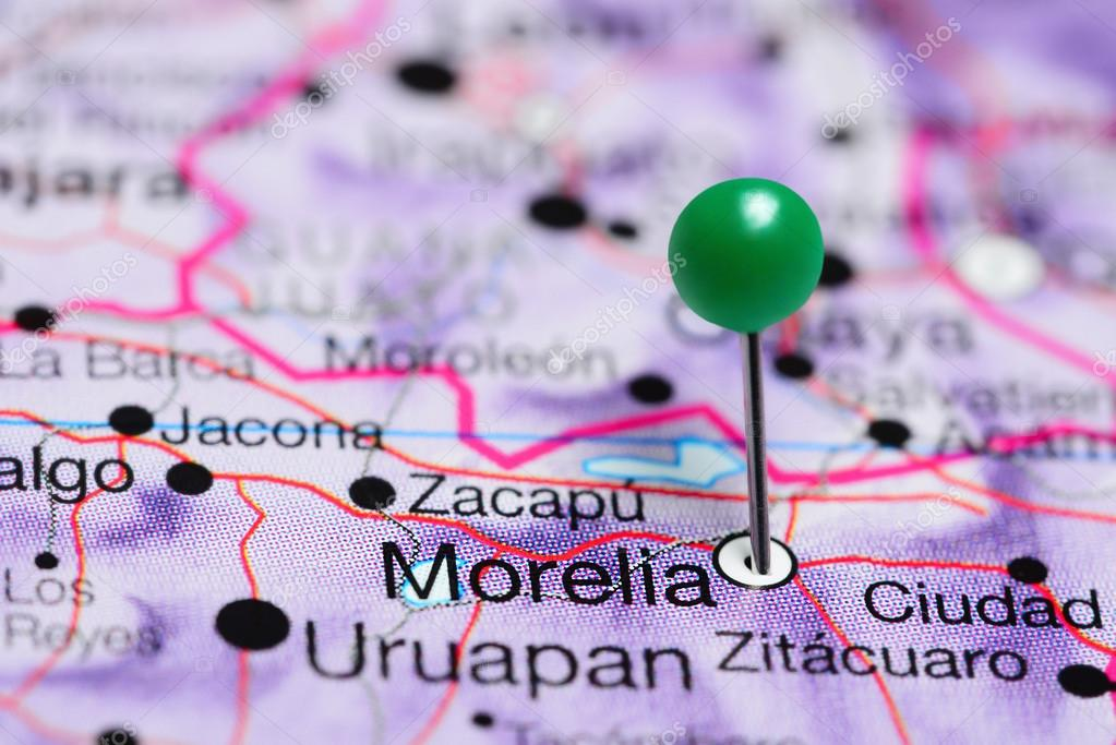 Morelia Pinned On A Map Of Mexico Stock Photo C Dk Photos 117657842