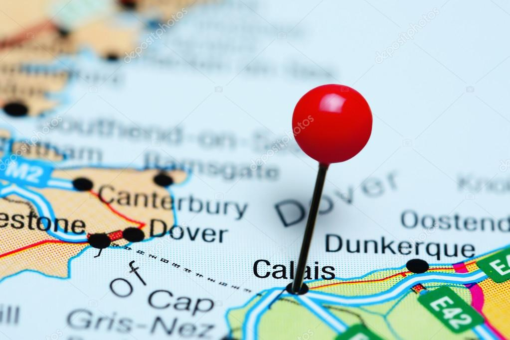Map Of France Calais.Calais Pinned On A Map Of France Stock Photo C Dk Photos 117703622