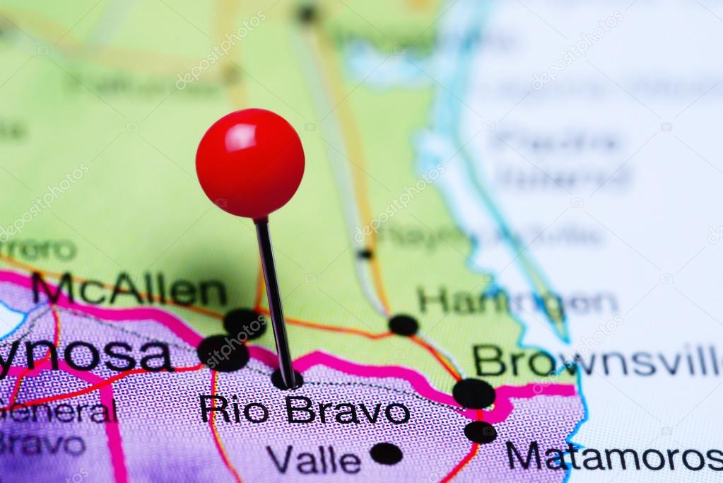Rio Bravo Mexico Map.Rio Bravo Pinned On A Map Of Mexico Stock Photo C Dk Photos 118071056