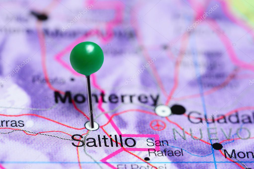 Saltillo Pinned On A Map Of Mexico Stock Photo C Dk Photos 118071560
