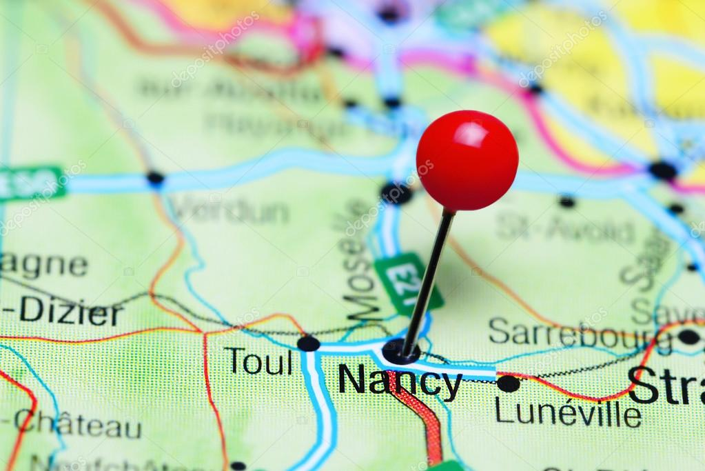 Map Of France Nancy.Nancy Pinned On A Map Of France Stock Photo C Dk Photos 118184062