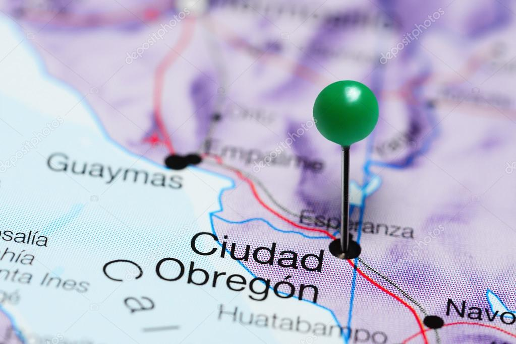 Obregon Mexico Map.Ciudad Obregon Pinned On A Map Of Mexico Stock Photo C Dk Photos
