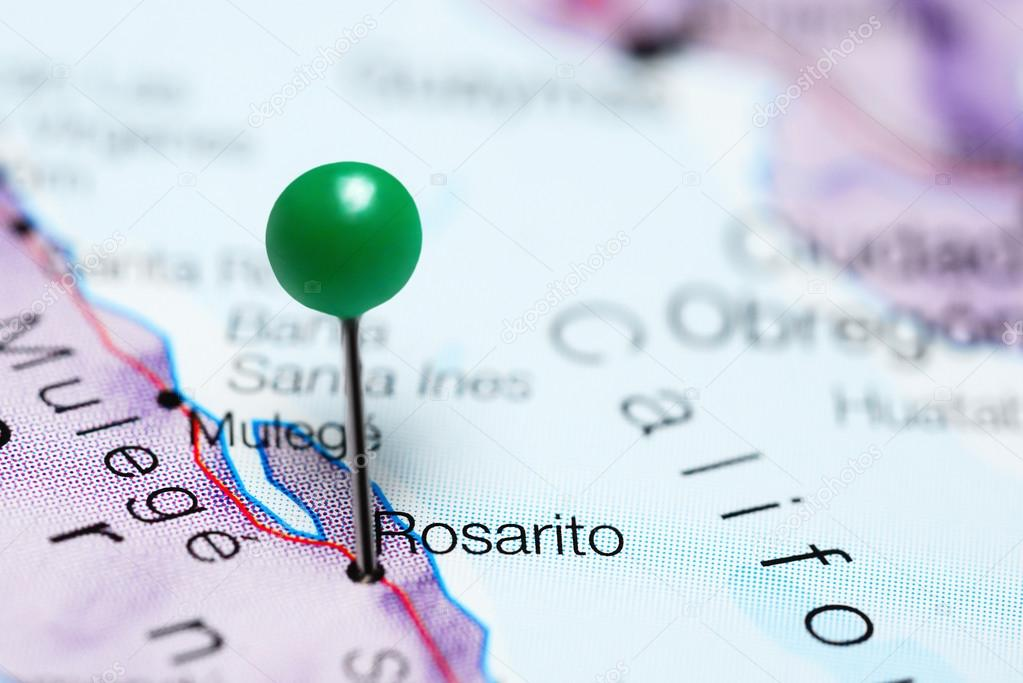 Rosarito Pinned On A Map Of Mexico Stock Photo C Dk Photos 118566506