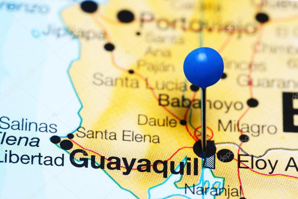 Guayaquil en un mapa de ecuador foto de stock dkphotos 119918396 guayaquil en un mapa de ecuador foto de stock gumiabroncs Images