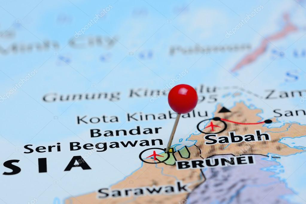 Map Of Asia Brunei.Brunei Pinned On A Map Of Asia Stock Photo C Dk Photos 82880180