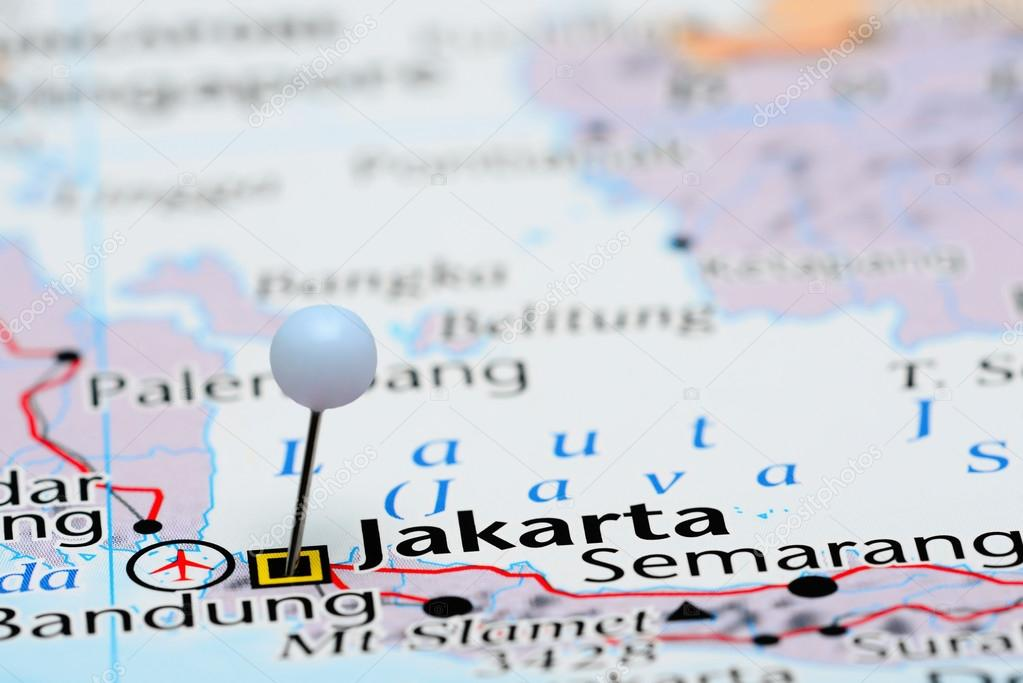 Map Of Asia Jakarta.Jakarta Pinned On A Map Of Asia Stock Photo C Dk Photos 82880208