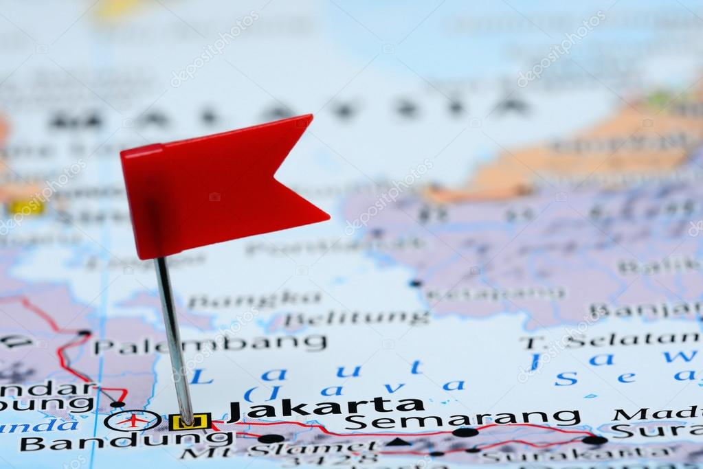 Map Of Asia Jakarta.Jakarta Pinned On A Map Of Asia Stock Photo C Dk Photos 82880216
