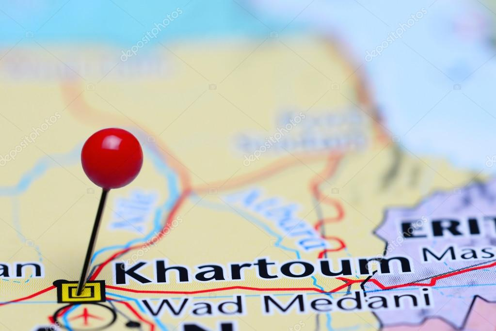 Khartoum Pinned On A Map Of Asia Stock Photo C Dk Photos 85510514