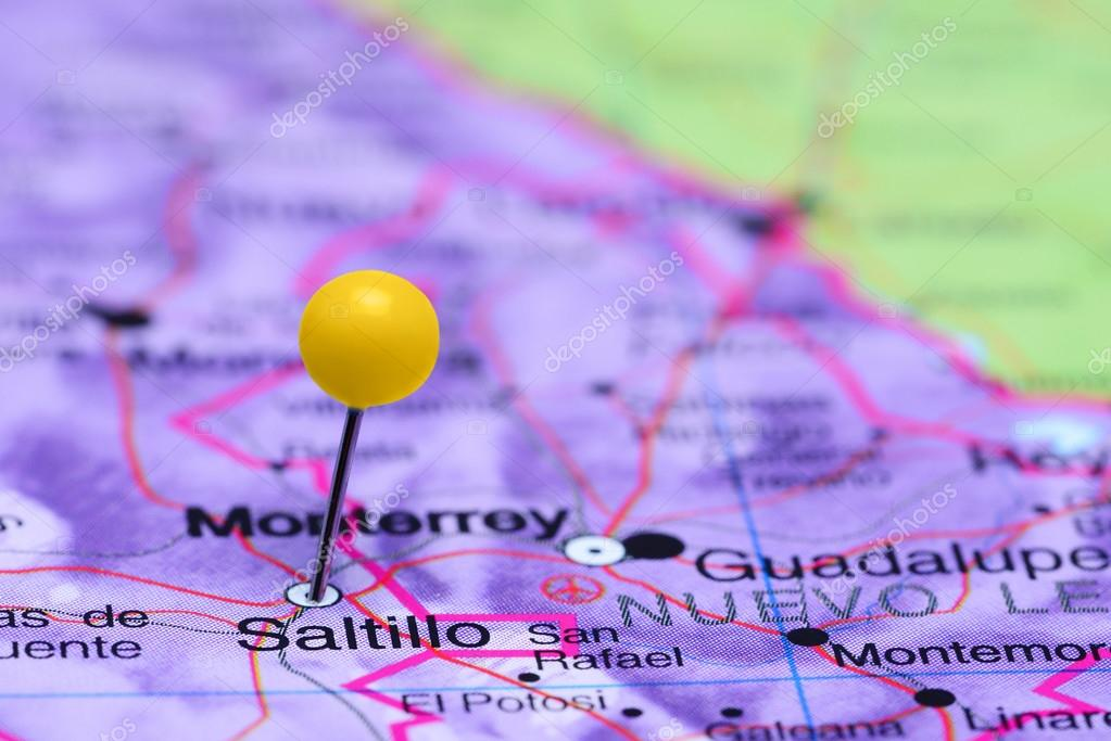 Saltillo Pinned On A Map Of Mexico Stock Photo C Dk Photos 90652136