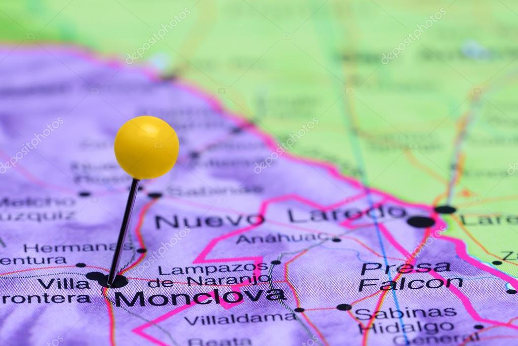 Monclova Mexico Map.Monclova Pinned On A Map Of Mexico Stock Photo C Dk Photos 90652142