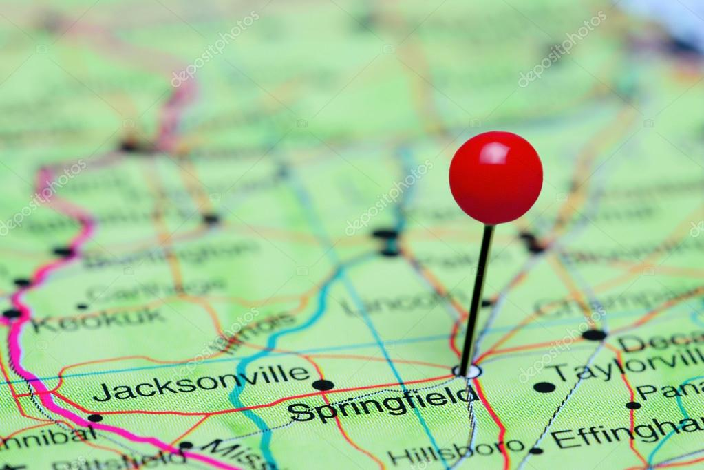 Springfield Usa Map.Springfield Pinned On A Map Of Usa Stock Photo C Dk Photos 90838168