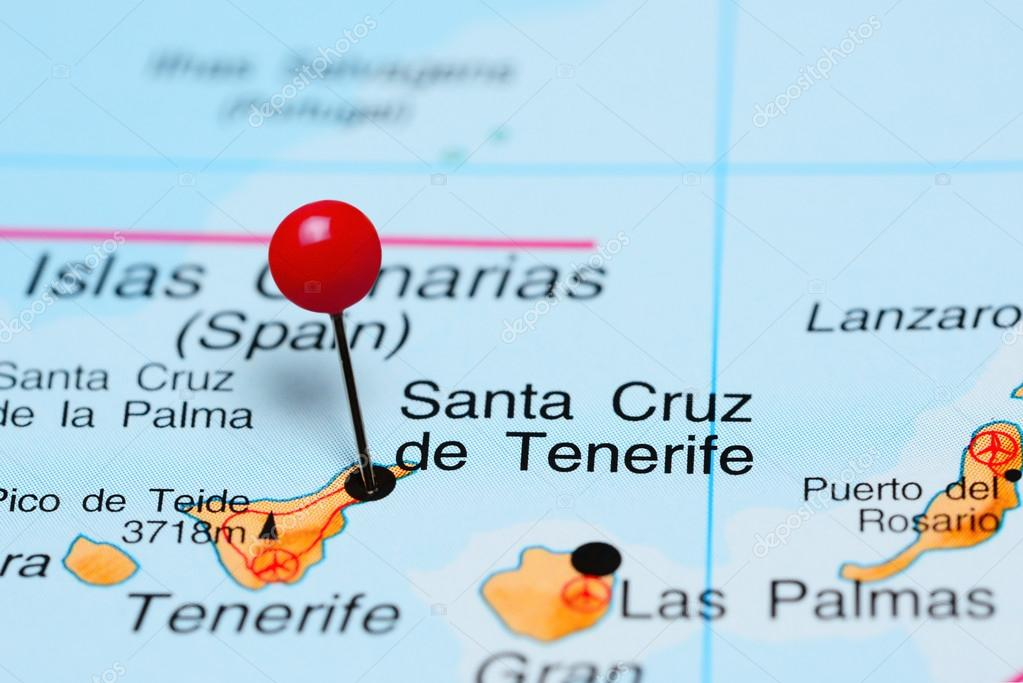 Santa Cruz De Tenerife Pinned On A Map Of Africa Stock Photo Dk Photos 93770434