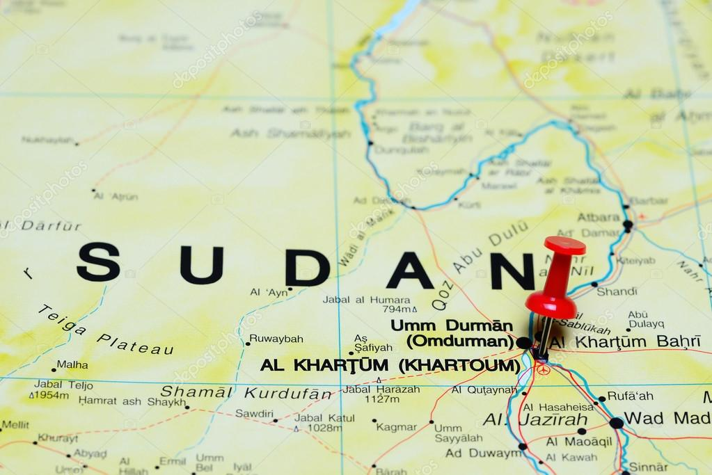 Khartoum Pinned On A Map Of Africa Stock Photo C Dk Photos 93771264