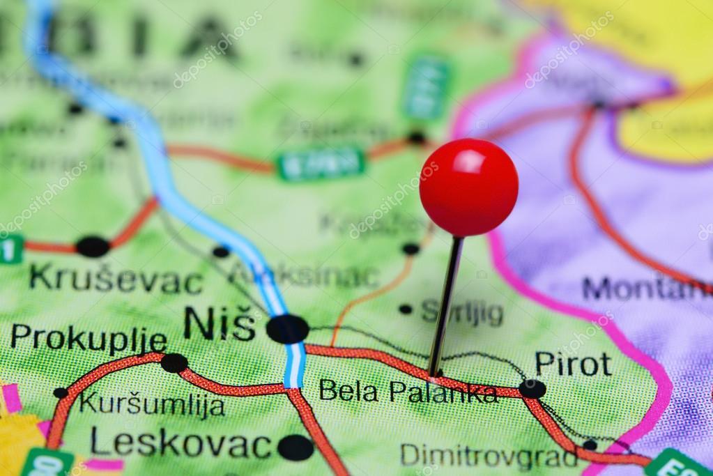 bela palanka mapa Bela Palanka fixado no mapa da Sérvia — Stock Photo © dk_photos  bela palanka mapa
