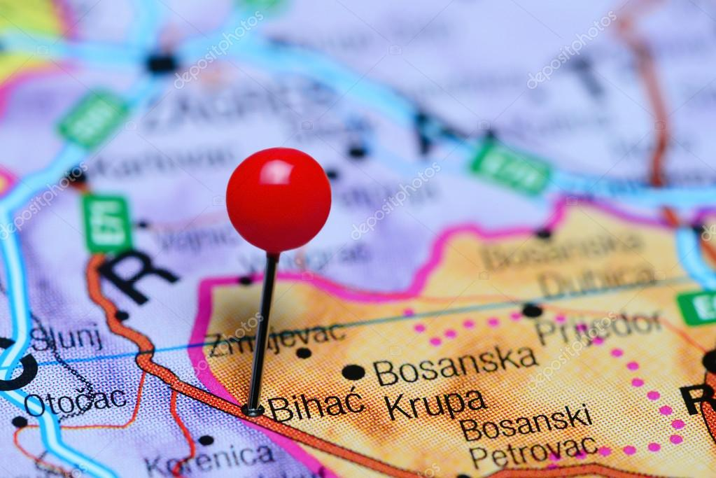 Karta Bosnien Och Hercegovina.Bihac Fasts Pa En Karta Over Bosnien Och Hercegovina