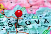Banska Bystrica připnul na mapě Slovenska
