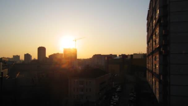 Timelapse Sunset At City