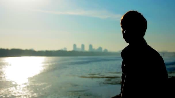 Guy Silhouette Sunrise