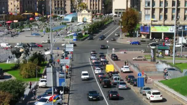 Timelapse dopravní Kyjev