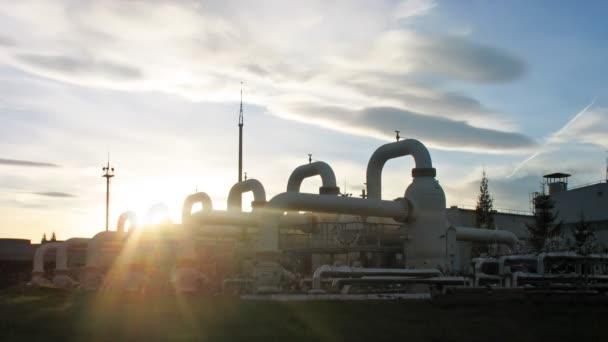 Timelapse Sunset zařízení, čištění plynů