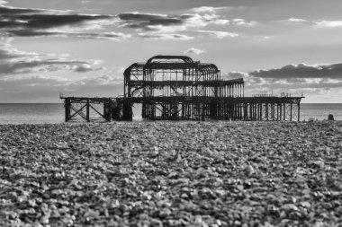 Old Brighton Pier - Black and White