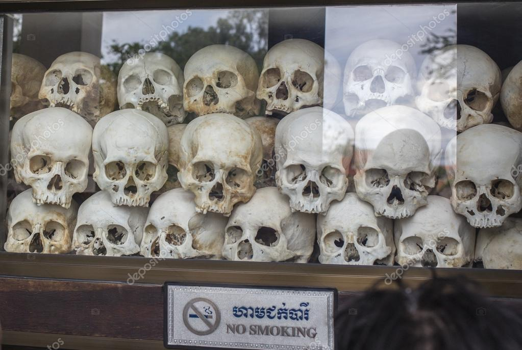 Skulls at Killing Fields, Cambodia