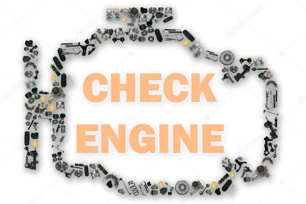 Check Engine Light Symbol When Something Goes Wrong With The Engine