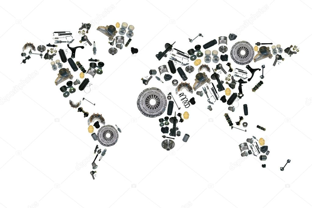World map of the spare parts for shop auto aftermarket stock photo world map of the spare parts for shop auto aftermarket stock photo gumiabroncs Choice Image