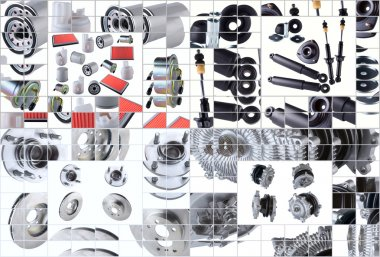 Many images of new spare parts kit