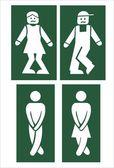Fotografie WC značky - vektor